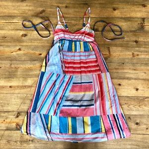 J.Crew Cotton Colorful Colorblock Sundress Size XS